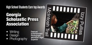 McIntosh High School sophomore Izzy Pullias, a photographer for the school's newspaper, was one of many high school students from McIntosh and Starr's Mill to receive journalism awards in a recent state and national competition. Photo/Submitted.