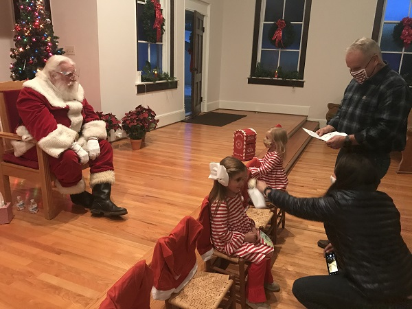 <b>Santa arrived in Brooks on Dec. 6 to hear Christmas wishes in the Brooks Chapel. Photo/Ben Nelms.</b>
