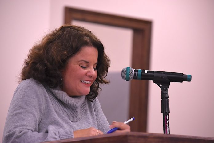 Mayor Vanessa Fleisch delivers her State of the City address Jan. 21, 2021 at City Council meeting. Photo/Cal Beverly.