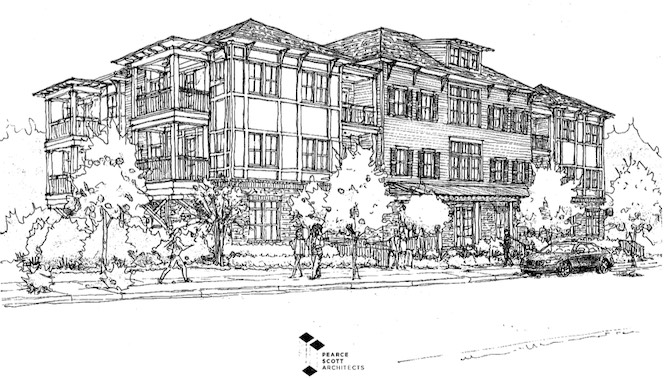 <b>Rendering of Laurel Brook condo building. City of Peachtree City.</b>