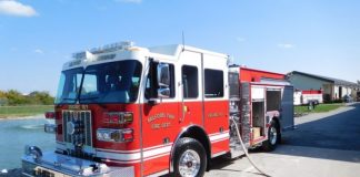 A typical Sutphen-built pumper fire engine at its manufacturing plant in Dublin, Ohio. Photo/Sutphen website.