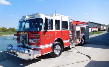 A typical Sutphen-built pumper fire engine at its manufacturing plant in Dublin, Ohio. Photo/Sutphen website.