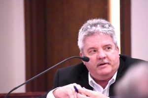 City Manager Jon Rorie addresses City Council Feb. 18. Photo/Cal Beverly.