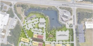 Master plan of the proposed rezoning and development on Widget Drive. Graphic provided by the Planning Commission.
