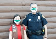 Stella Yurgiones and Officer Paul Smilley, school resource officer for Huddleston Elementary School in Peachtree City. Photo/Submitted.