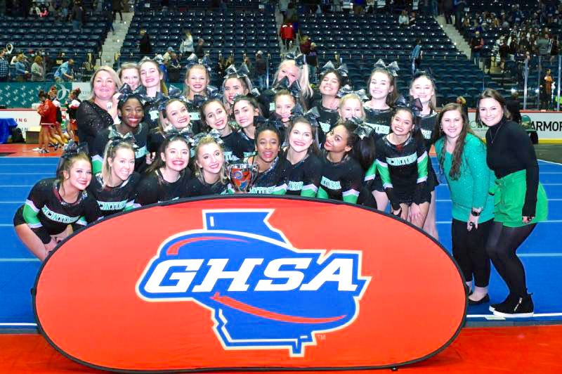 <b>McIntosh's competition cheer team won their second-straight state championship. </b>