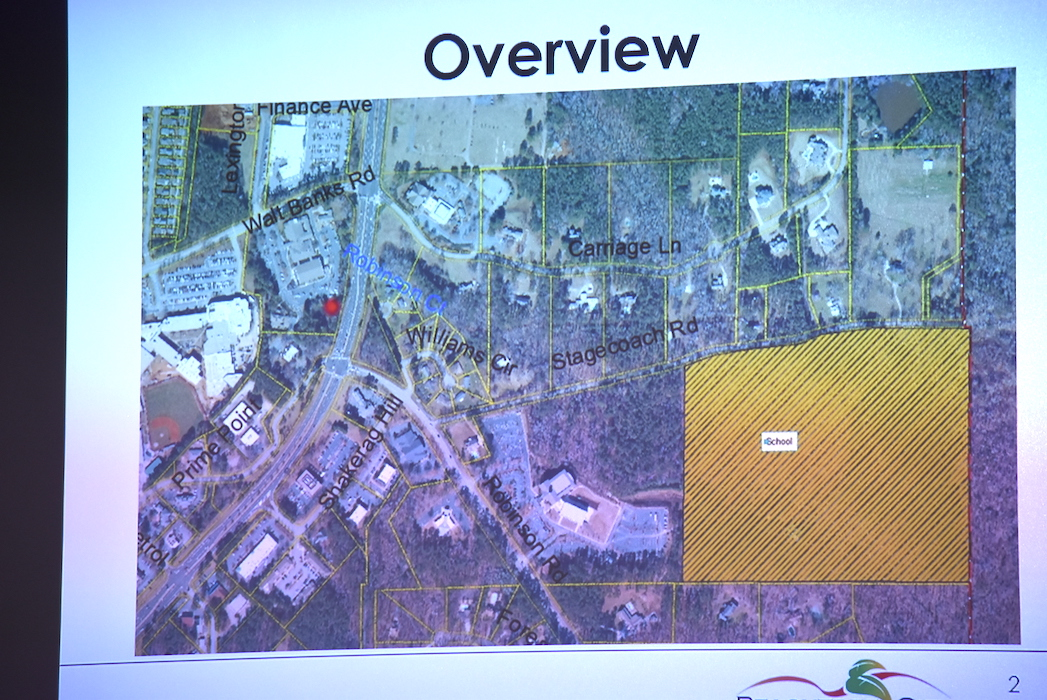 <b>The new middle school site is the brown area in the lower right. Graphic/Peachtree City Council.</b>