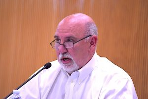 <b>Fayette Commissioner Eric Maxwell at May 13 meeting. Photo/Cal Beverly.</b>