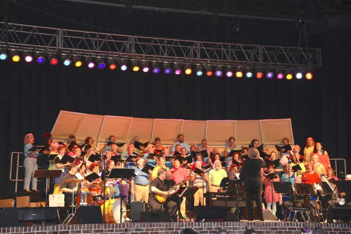 The Southern Crescent Chorale performs outdoors in pre-Covid days. Photo/Submitted.