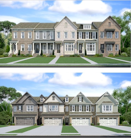 Artist rendering of proposed LaFayette Townhomes. Graphic/City of Fayetteville.