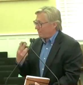 <b>Developer Rick Halbert speaks at City Council's June 3 meeting.</b>