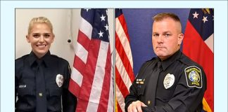 Fayetteville Police Officer Maggie Murphy (L) and Sgt. Michael Perry. Photos/Submitted.
