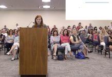 Citizens pack Board of Education meeting, dozens speak. Photo/BoE website.