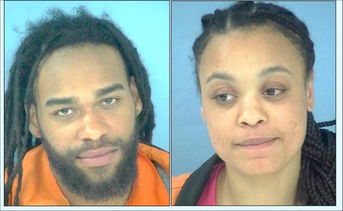 Davonte A. Barlowe (L) and Shalisha Mosley. Photos/Fayette County Jail.