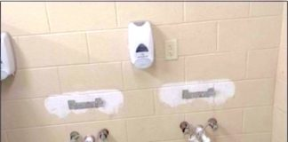 Results of vandalism in restrooms at All Children's Playground. Photo/Peachtree City Police