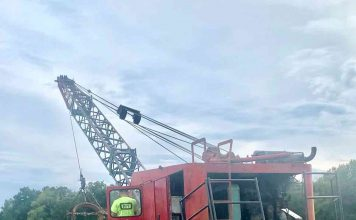 This antique dragline is just one of many pieces of earth-moving equipment on display at Inman Farm Heritage Days. Photo/Submitted.