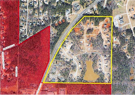 75 acre Peachtree City annexation map, Graphic/City of Peachtree City.