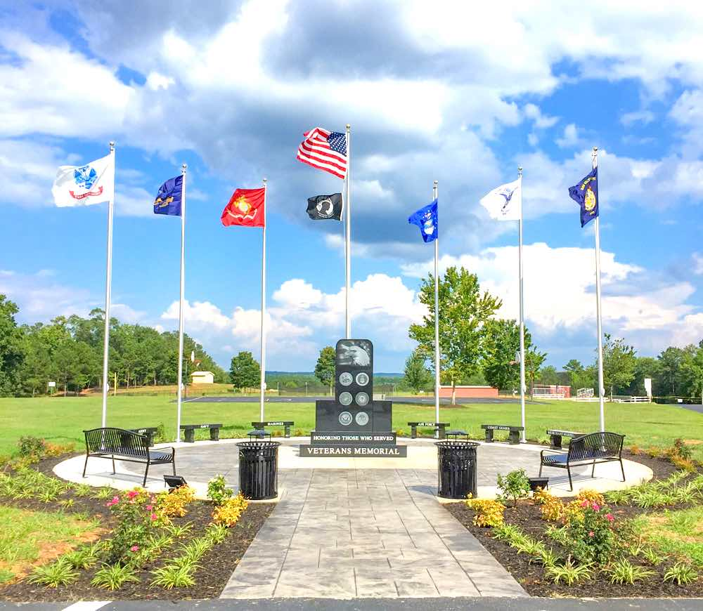 The Town of Centralhatchee erected its Veterans Memorial in the City Park in the summer of 2016. Photo/Wikipedia.