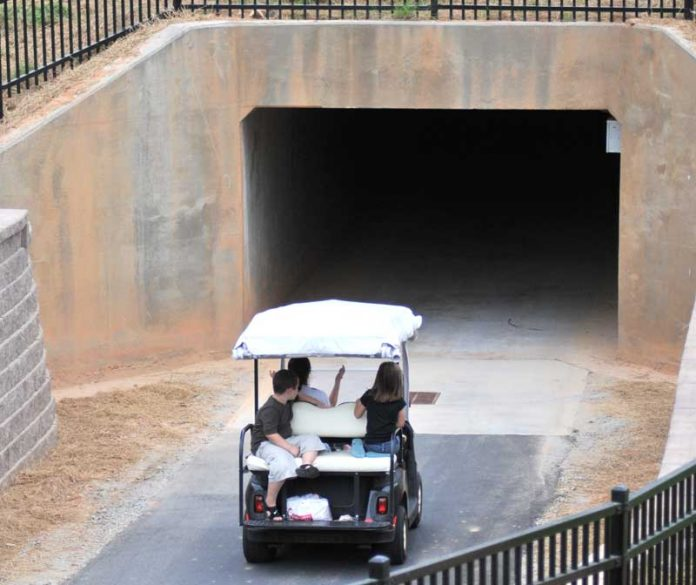 A cart path tunnel in another part of Peachtree City. File photo.