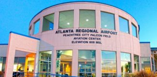 Main terminal building at Peachtree City's Falcon Field. File photo.